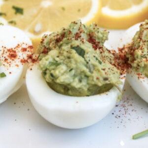 Deviled Avocado Lime Eggs